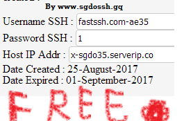 SG DO SSH Extra Server September