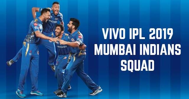 Mumbai Indians (MI) VIVO IPL 2019 Squad