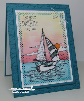 North Coast Creations Sail Away, ODBD Fishing Net Background, ODBD Custom Stitched Rectangles Dies, ODBD Custom Rectangles Dies, Card Designer Angie Crockett