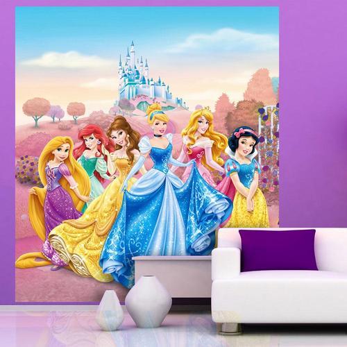 Fototapet barn prinsessor slott disney barntapeter tjejrum