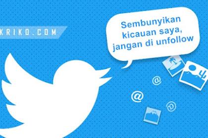 Cara Menyembunyikan Kicauan akun Twitter yang diikuti di TL