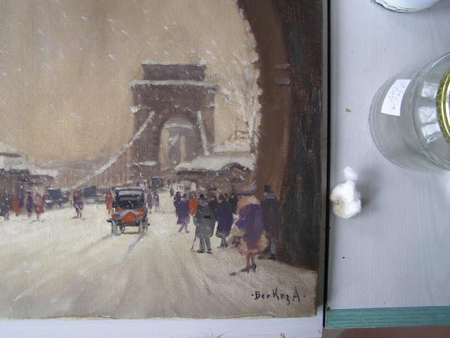 Berkes festmény restaurálás