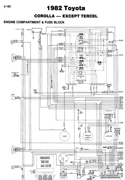repairmanuals: Toyota Corolla 1982 Wiring Diagrams