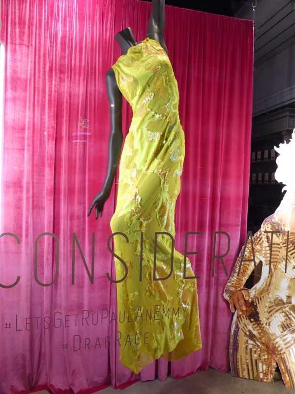 RuPauls Drag Race lime green gown