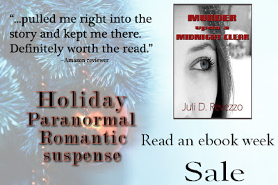Juli D. Revezzo, Murder Upon a Midnight Clear, discount ebooks, ebook, mystery, paranormal romance, Romantic Suspense, sale, Small Town Romance, suspense, supernatural suspense, witch, witches, women's fiction