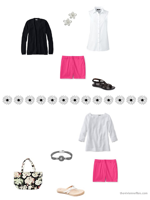 how to style hot pink shorts for summer