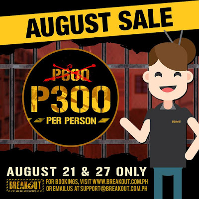 Breakout August Holiday SALE 2018