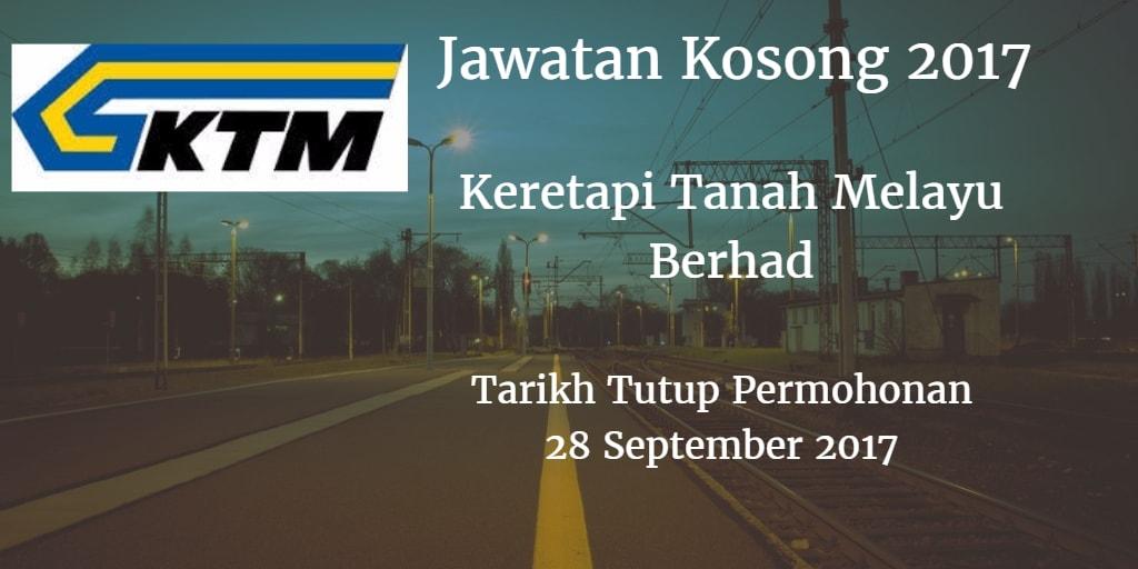 Jawatan Kosong KTMB 28 September 2017