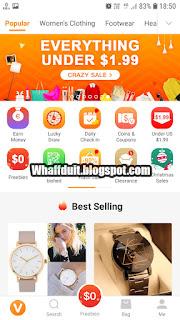 Promo Aplikasi Belanja Gratis Terbaru - WhaffDuit