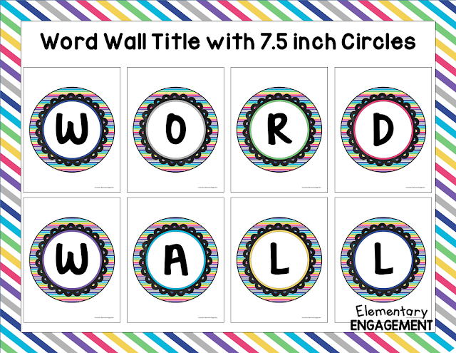 This post shows five different word wall options.