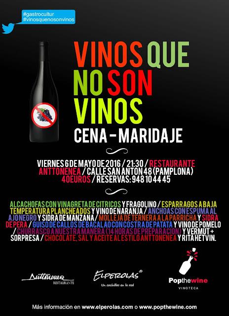 evento anttonenea elperolas popthewine #gastrocultur vinos que no son vinos