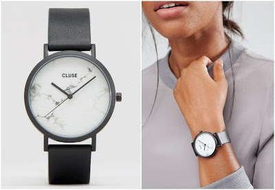 Cluse La Roche Black Marble Watch