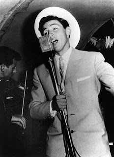 Berlusconi in his days as a singer on a  cruise ship