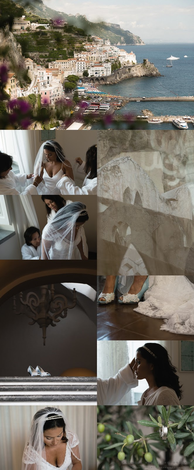 Bridal preparations at Hotel Convento in Amalfi