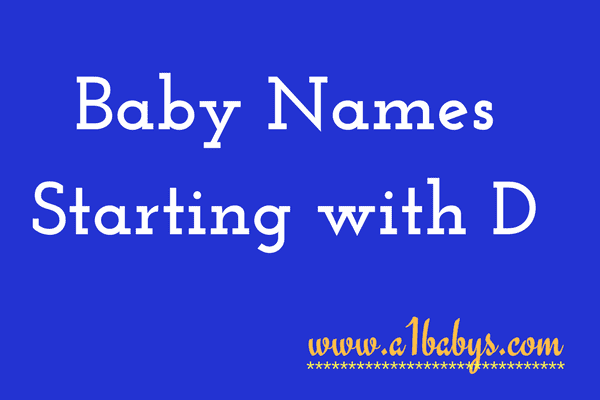 baby girl names starting with D
