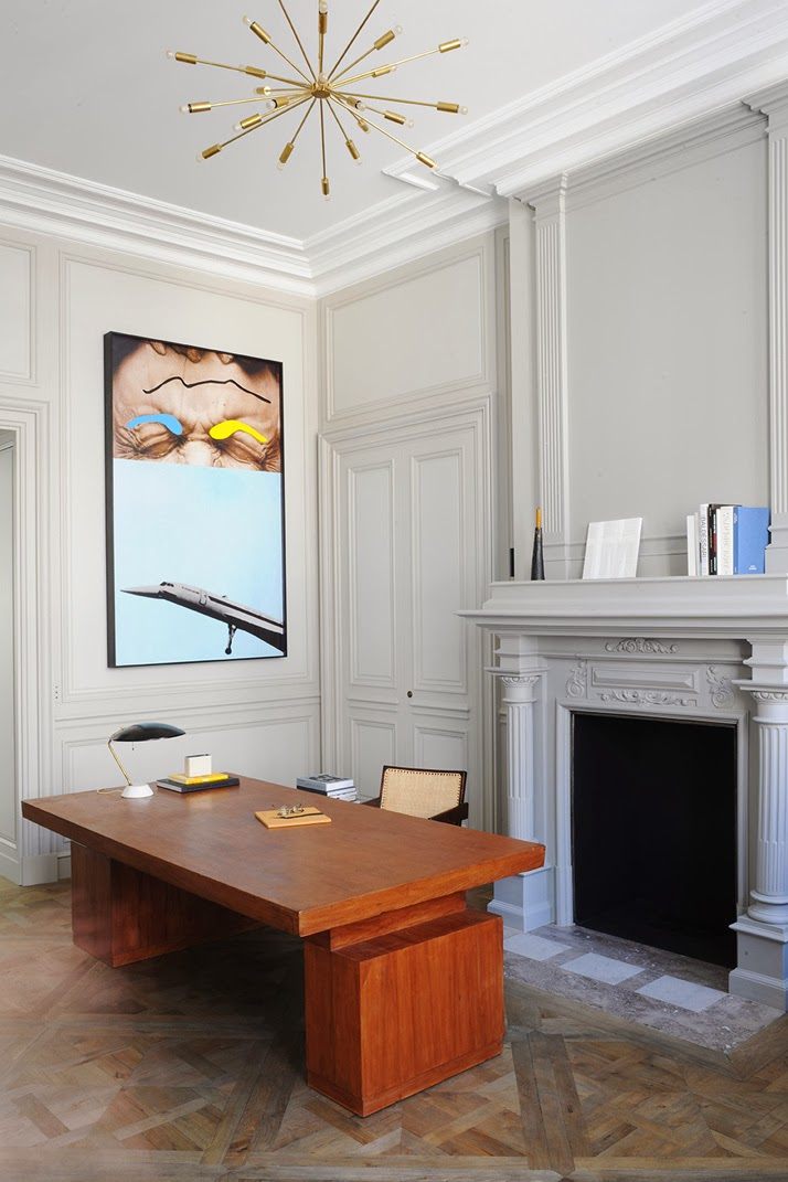 A Paris apartment designed by Joseph Dirand home office