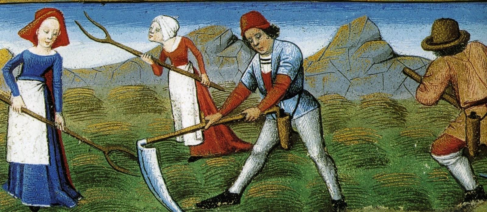 картинки крестьян средневековья первом