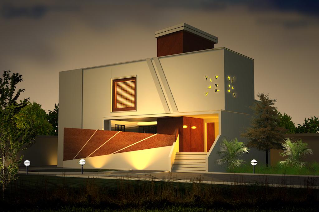 4 Bedroom Villa Exterior Design Ideas 3250 Sq Ft Sameer Visuals