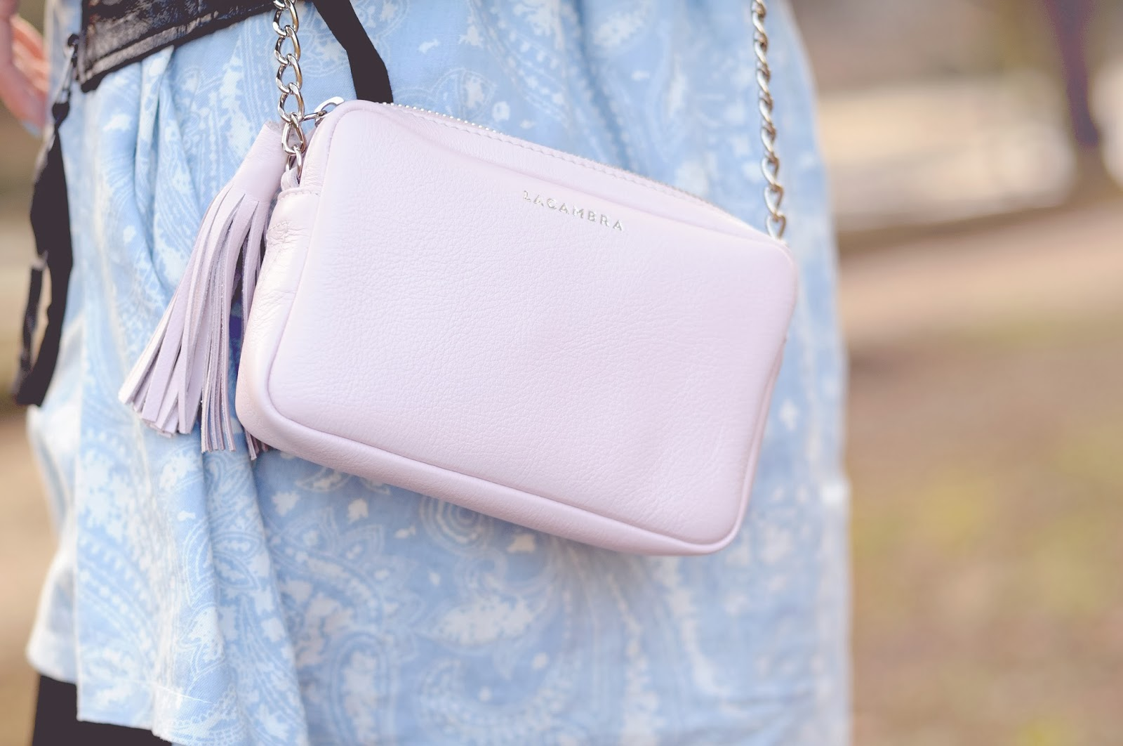 Pink leather bag, Blogger accessories