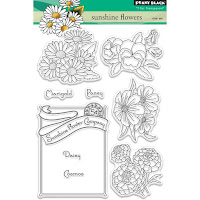 Sunshine Flowers clear stamp set
