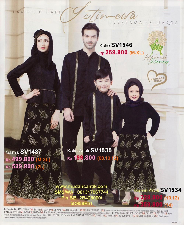 Sarimbit Keluarga Muslim Savero Fashion By Rika SMS WhatsApp