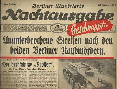 Berliner Nachtausgabe 1931