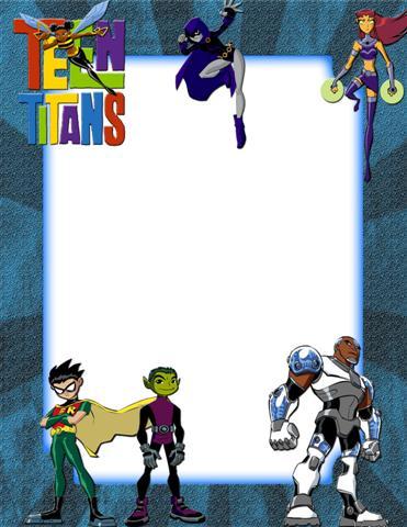 Marco digital infantil inspirado en Los Jóvenes Titanes