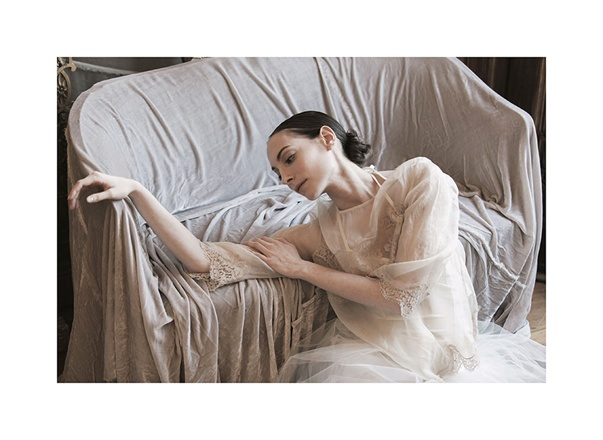 Ballerina striking feminine graceful pose in Erika Cavallini for Vogue Italy seen on Hello Lovely