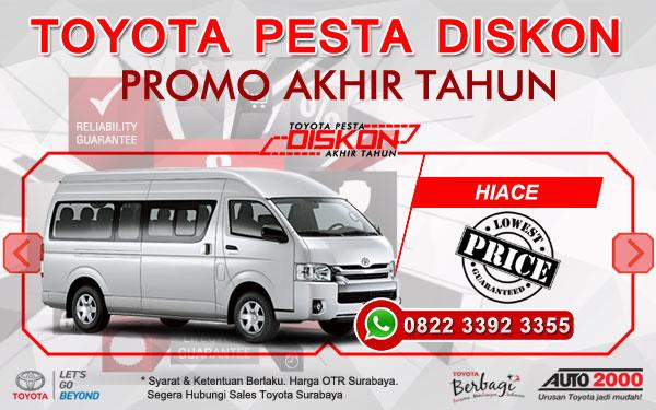 Promo Akhir Tahun Toyota Hiace Surabaya