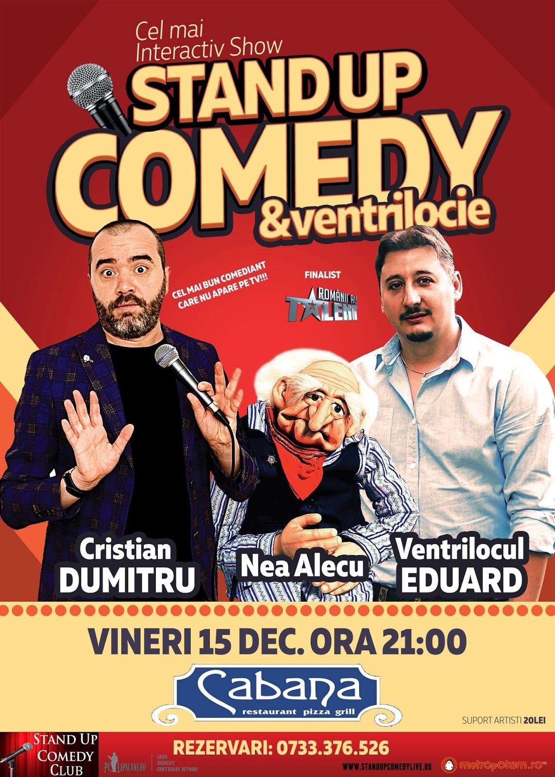 Stand-Up Comedy Bucuresti Vineri 15 Decembrie