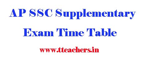 AP ssc supplementary exam time table 2017 ap 10th supply dates