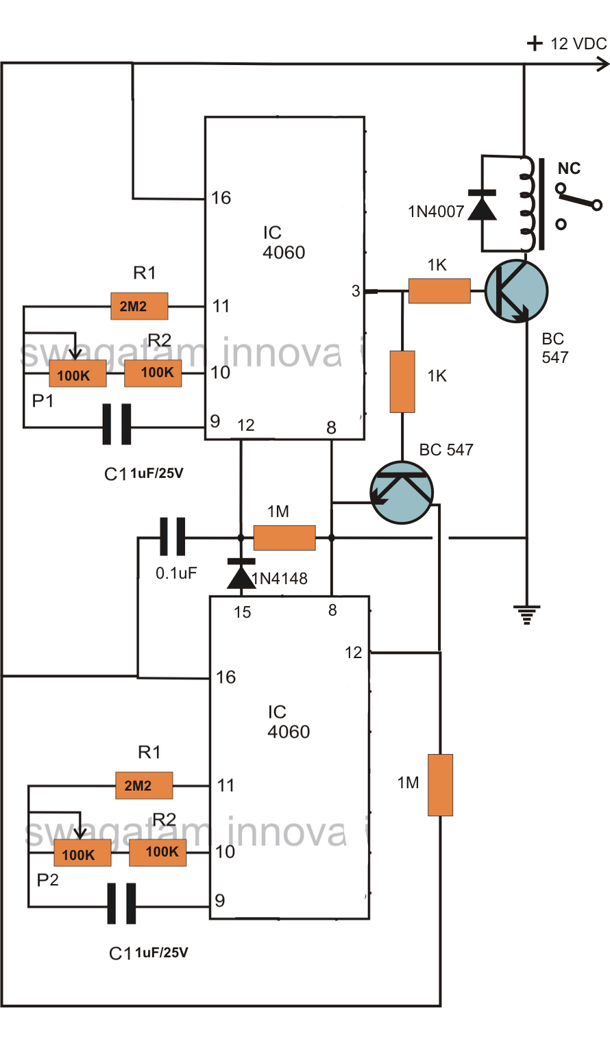 circuit diagram for egg incubator