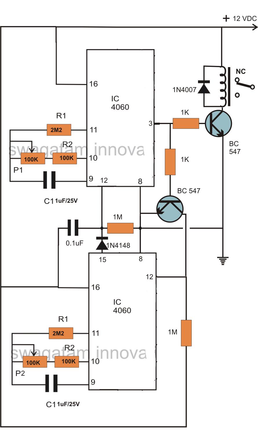 how to make an incubator timer circuit
