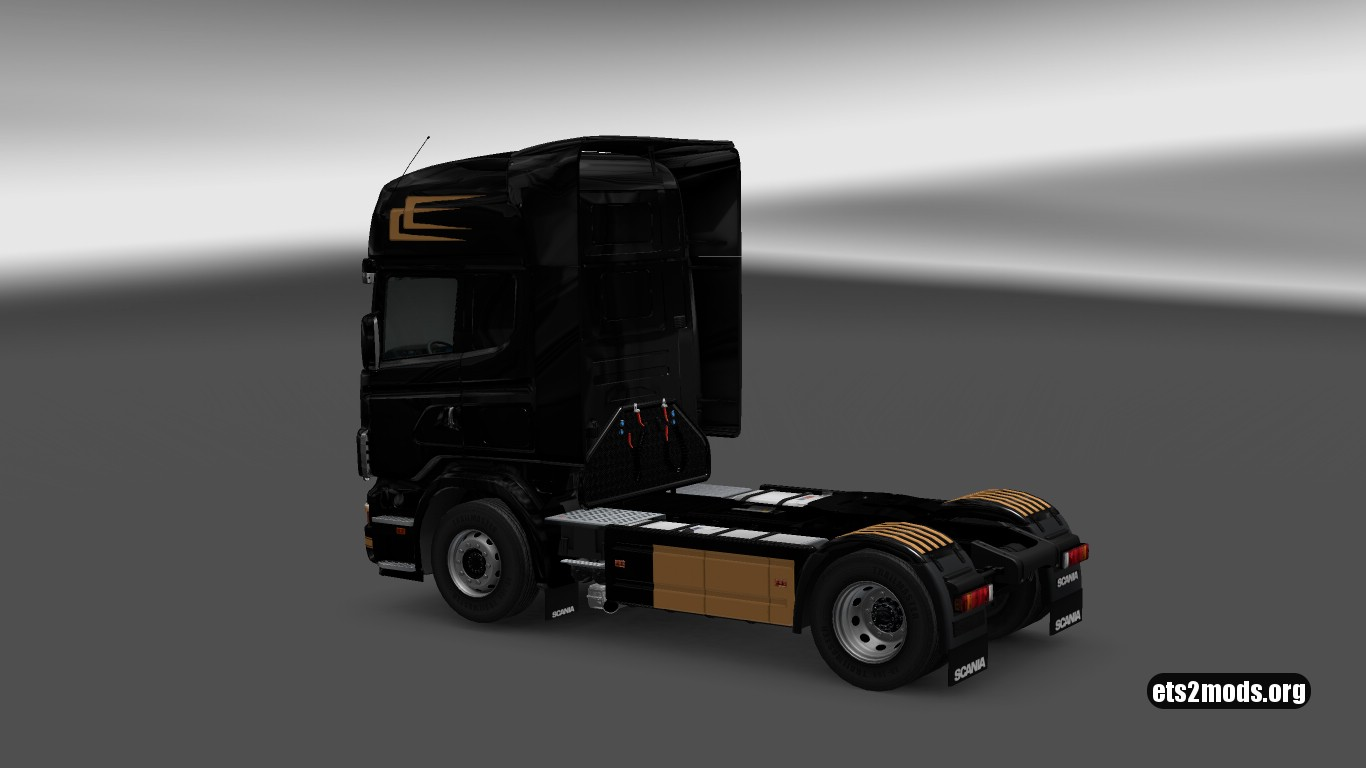 Simple Black & Gold Skin for Scania 4 series