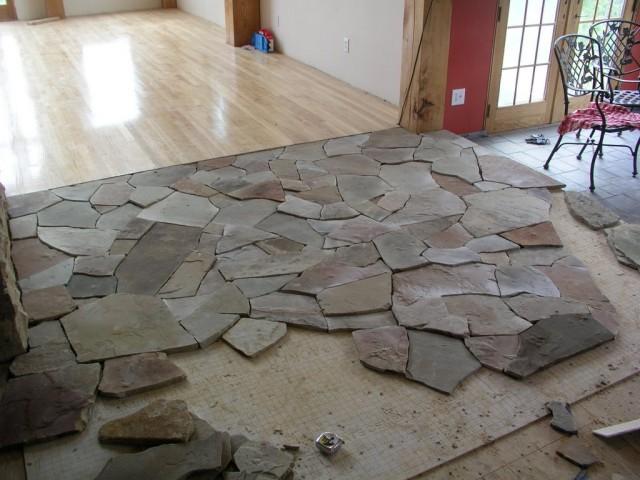 sàn ốp đá tự nhiên
