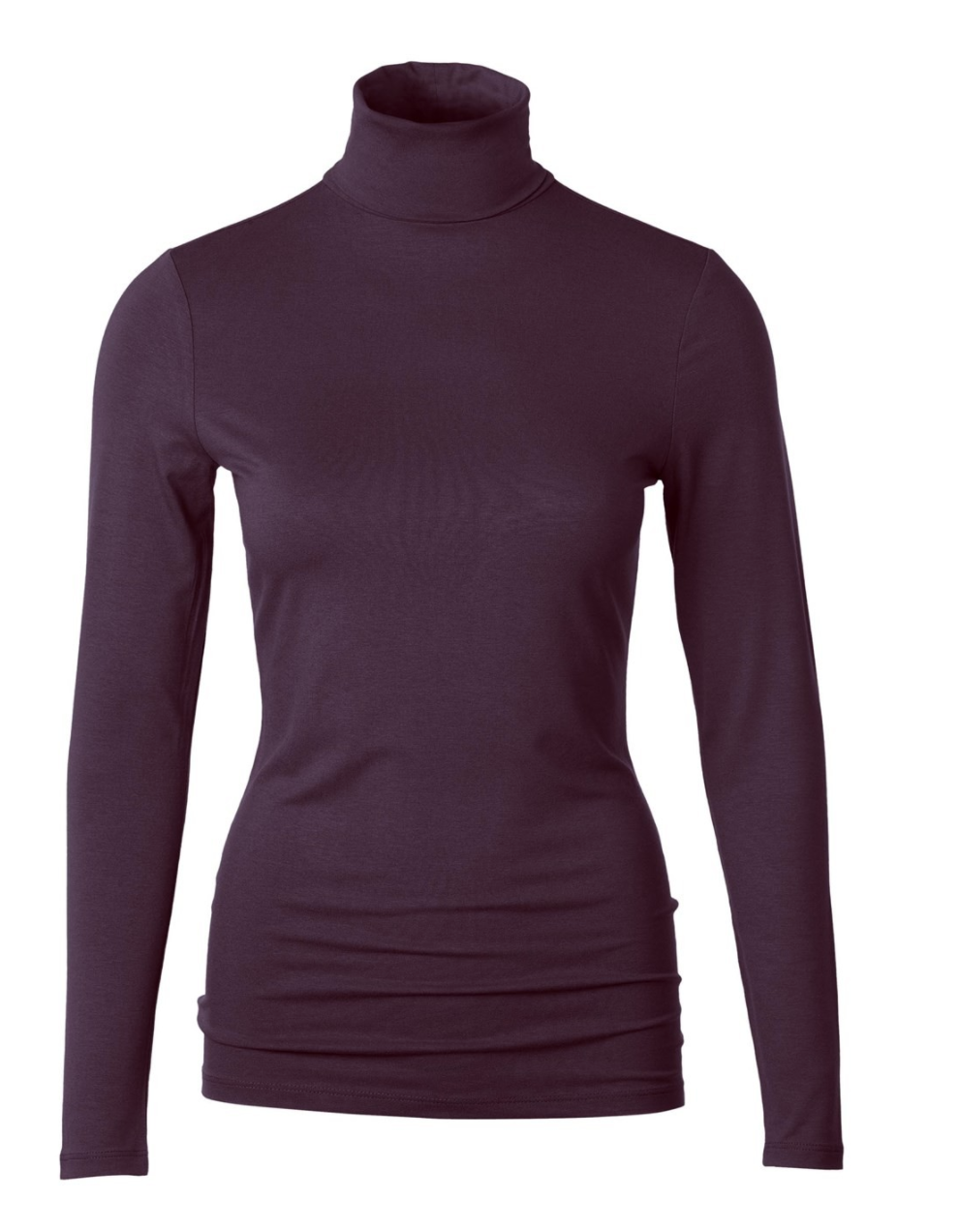 Aubergine - Silky Roll neck