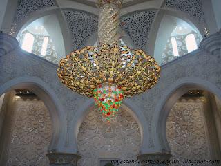 Otra lámpara de araña en el interior de la Mezquita Sheikh Zayed o Gran Mezquita de Abu Dhabi