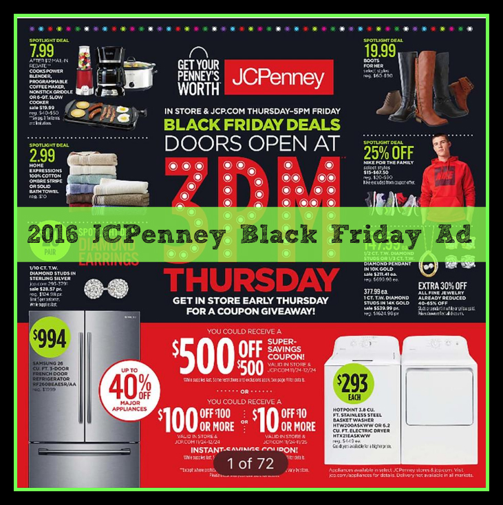 2016 Black Friday Ads: JCPenney Ad Scan Leaks Online