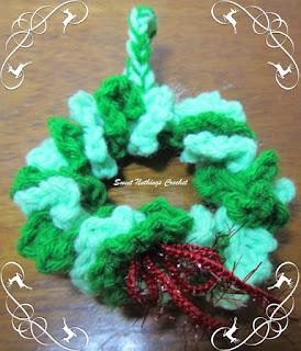 crochet xmas tree decoration