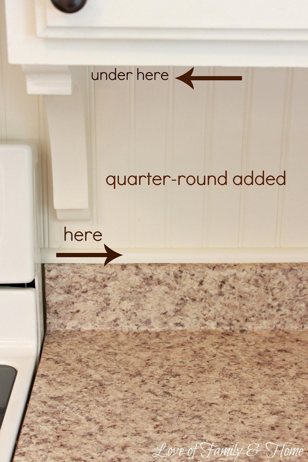 Trim Kitchen Backsplash With Quarter Round