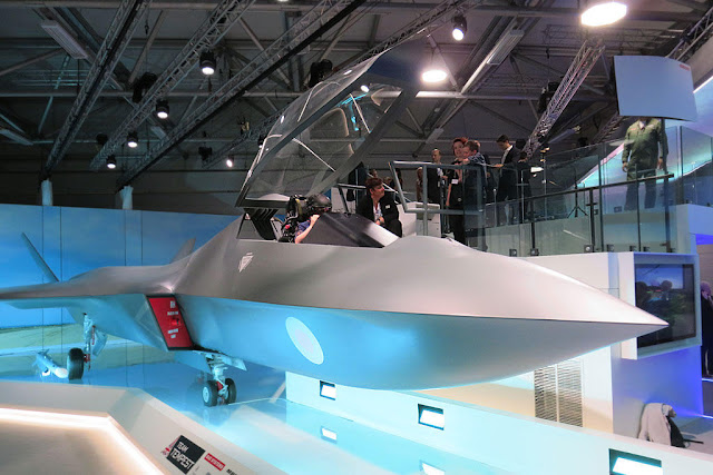 Image Attribute: The full-scale mock-up model of the Tempest, at the Farnborough Airshow, south-west of London.