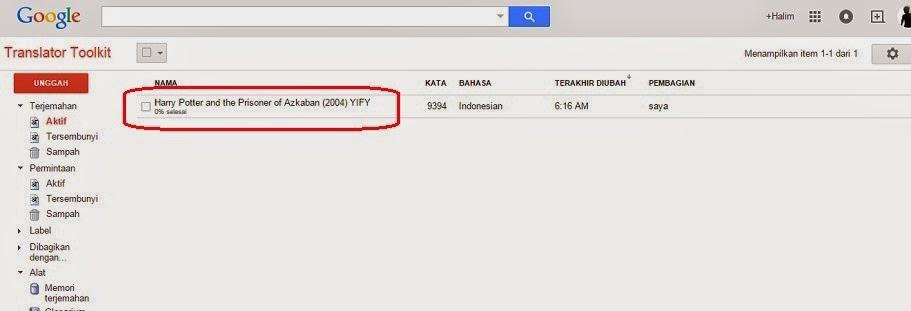 Mempraktikkan GTT (Google Translator Toolkit) alias Google Perangkat Penerjemah ~ Transferiority 87