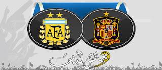 مشاهدة مباراة اسبانيا والارجنتين بث مباشر 27-3-2018 مباراة وديه دولية