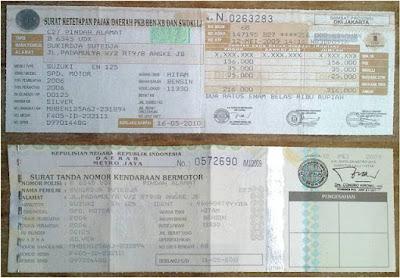 Surat Tanda Nomor Kendaraan (STNK)