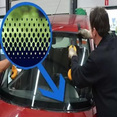 النقاط السوداء على زجاج السيارات