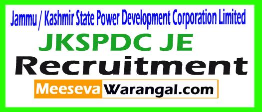 JKSPDC JE Recruitment 2017