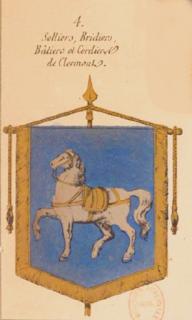 Blason des cordeliers de Clermont.