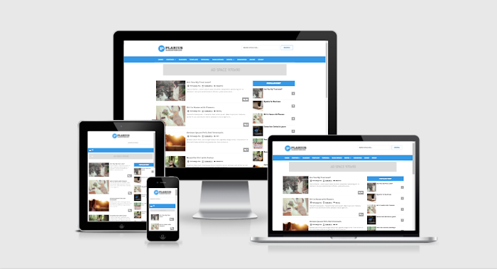 Plarius Responsive Simple Premium Blogger Template