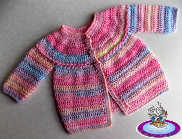 Zooty Owls Crafty Blog Quick And Easy Baby Cardigan