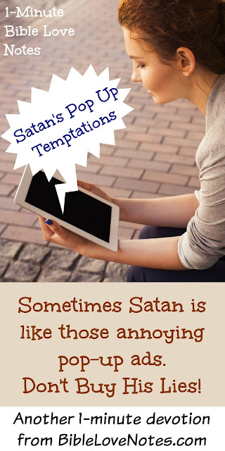 Satan's foothold is like a computer pop-up ad, Temptation, Anger